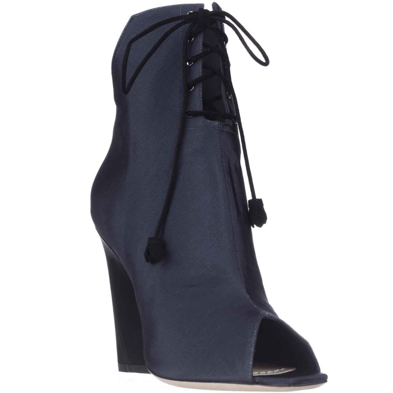 Womens Dior Brooklyn Lace-Up Peep-Toe Ankle Booties - Mar...