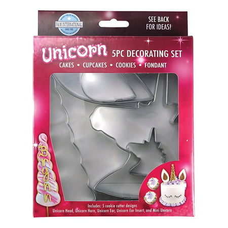 Unicorn Cake Decorating & Cookie Cutter Kit - 5 Piece Set - RM Cookie Cutter - 5122 (Halloween Decorating Ideas For Cookies)