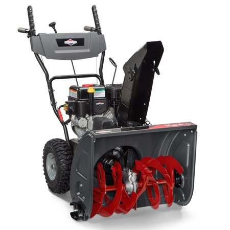 Briggs & Stratton 1696610 208cc 24 in. Dual-Stage Light-Duty Gas Snow Thrower with Electric