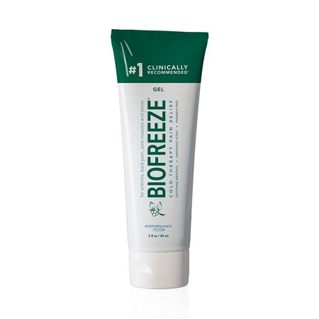 Biofreeze Pain Reliever Gel, Cooling Topical Analgesic for Muscle, Joint, Arthritis, & Back Pain, Long Lasting NSAID Free Relief Cream with Menthol for Sore Muscles, 3 oz. Tube, Original Green (Best Way To Relieve Back Muscle Pain)