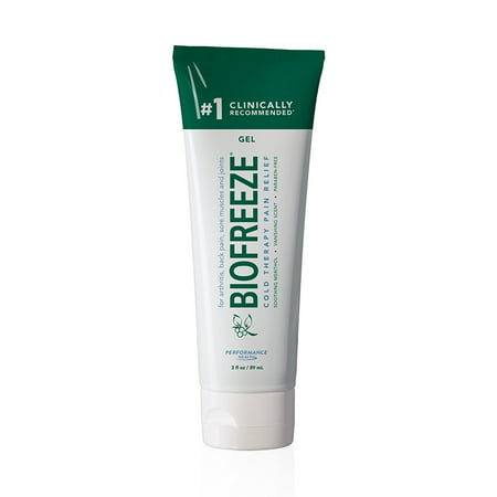 Biofreeze Pain Reliever Gel, Cooling Topical Analgesic for Muscle, Joint, Arthritis, & Back Pain, Long Lasting NSAID Free Relief Cream with Menthol for Sore Muscles, 3 oz. Tube, Original Green