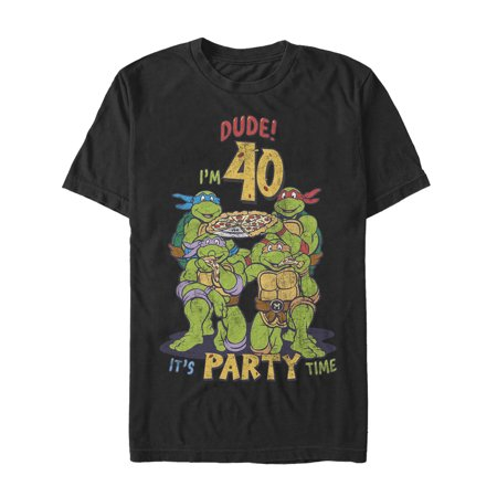 Teenage Mutant Ninja Turtles Men's 40th Birthday Pizza Party (Teenage Mutant Ninja Turtles Pizza Party Shirt)