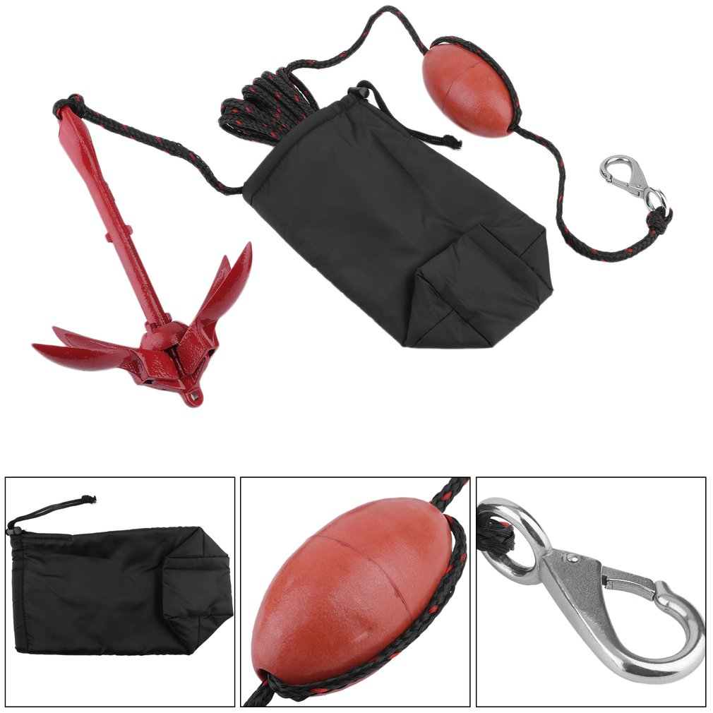 Portable Folding Anchor Buoy Kit Anchor Rigging System Set with Float Carrying Bag Rope Canoe Kayak Raft Boat Fishing... by YKS