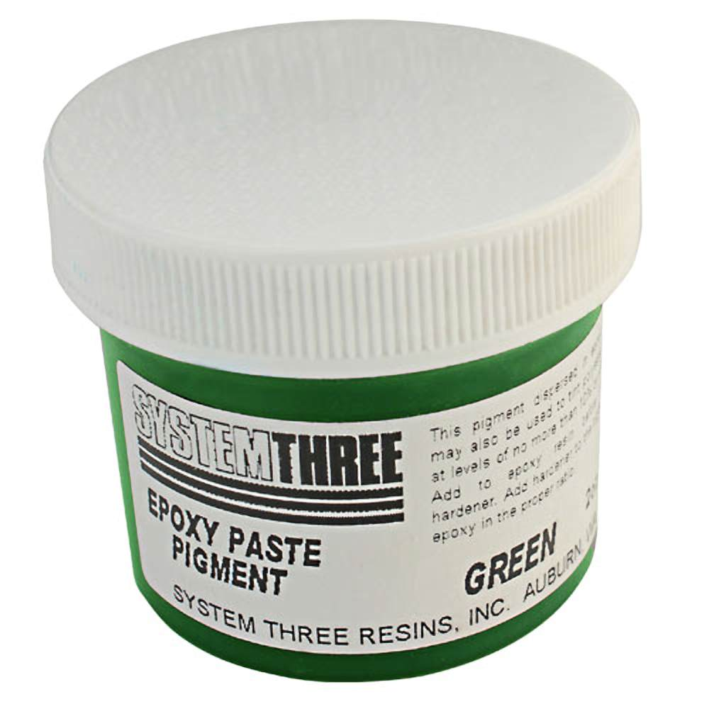 System Three 3205A04 Green Paste Pigment Coating, 2 Oz. Bottle