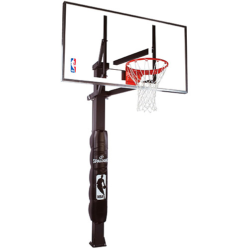 """Spalding 88825G 54"""" Performance Glass In-Ground Basketball System"""