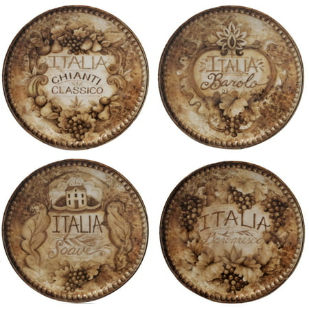 Wine Paper Plates (Certified International  Gilded Wine Assorted 6-inch Canape Plates (Set of 4))