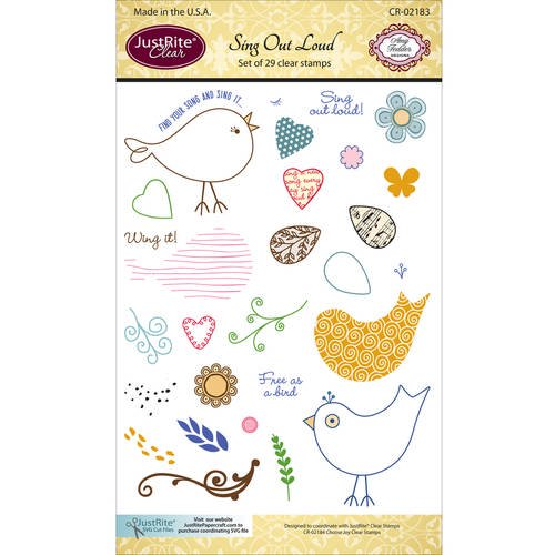 justrite papercraft clear stamps 4 x6 sing out loud pk 1 justrite