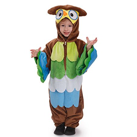 Dress Up America Kids Toddlers Hoo Hoo Owl Pretend Play Costume Outfit for Children - Owl Costume For Toddler