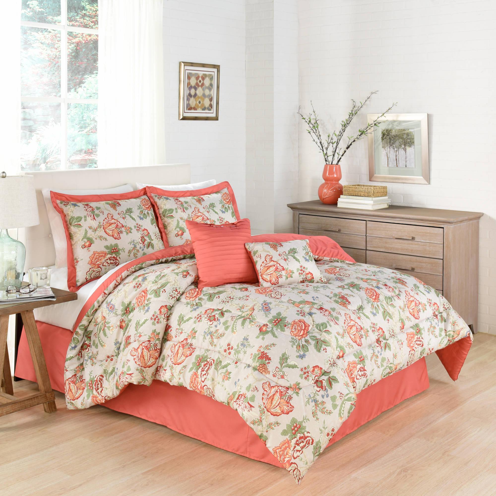 Waverly Traditions Casablanca, 6-Piece Bedding Comforter Collection