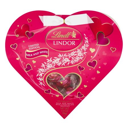 Lindt Lindor Milk Chocolate Truffles Milk And White, 3.4 OZ ...