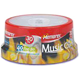 30 Memorex 40X Digital Audio Music CD-R 80min 700MB (Logo on Top)