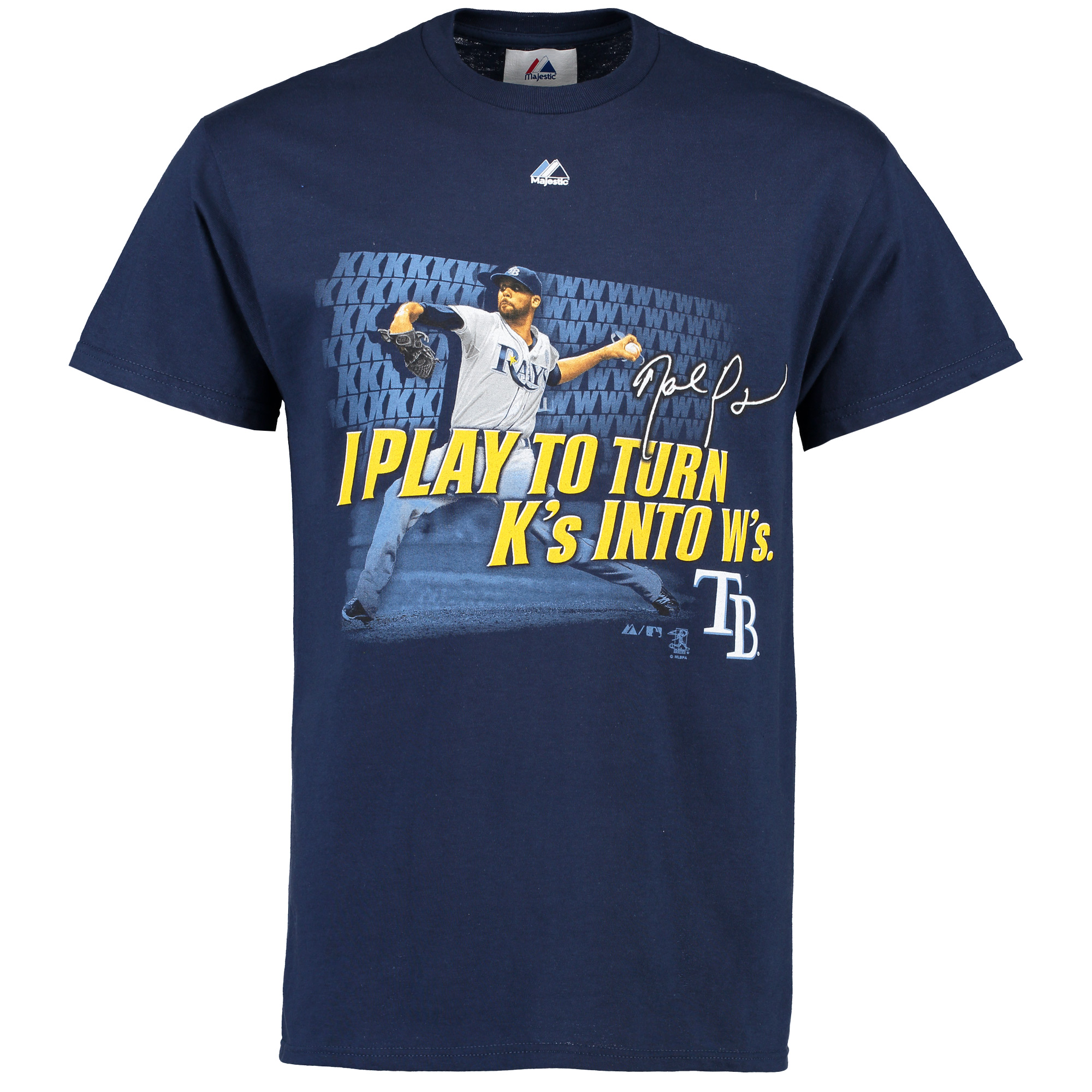 David Price Tampa Bay Rays Majestic I Play Player Action T-Shirt - Navy