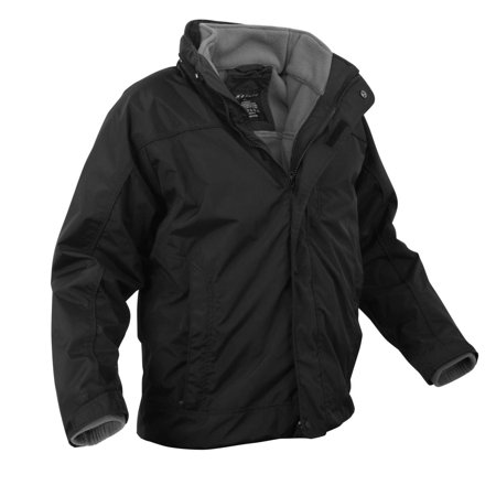 Rothco All Weather 3 in 1 Jacket, Black