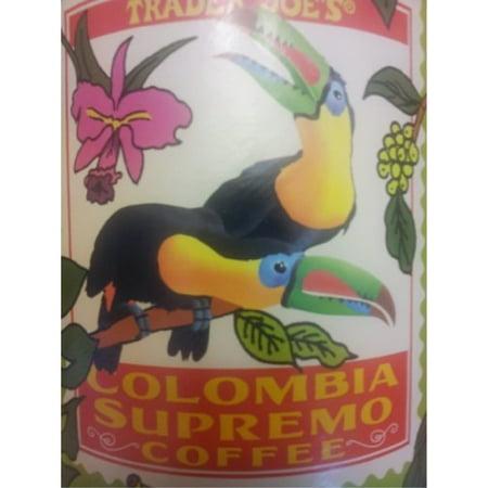 trader joe's colombia supreme whole bean coffee ()