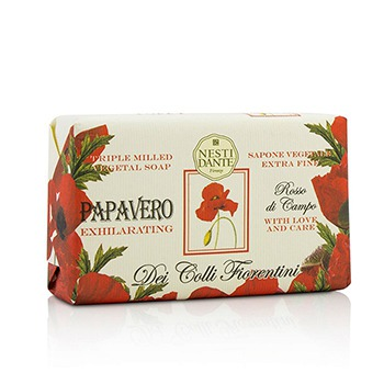 Dei Colli Fiorentini Triple Milled Vegetal Soap - Poppy 8.8oz