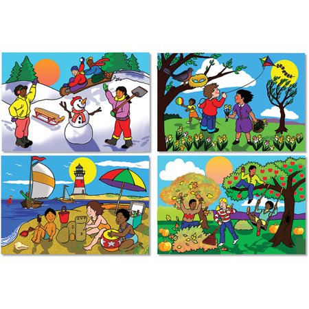 Melissa & Doug Four Seasons Floor Puzzle - Winter, Spring, Summer, and Fall (48 (The Four Seasons Winter Spring Summer Fall)