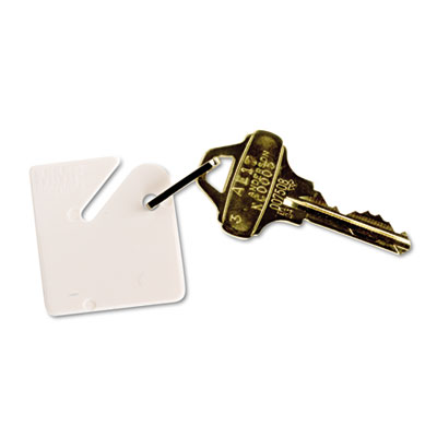 Numbered Slotted Rack Key Tags, Plastic, 1 1 2 x 1 1 2, White, 20 Pack, Sold as 1 Package, 20 Each per Package by