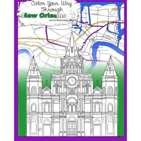Stress Relieving Relaxation For Grownups And Adults  Color Your Way Through New Orleans With Intricate Designs