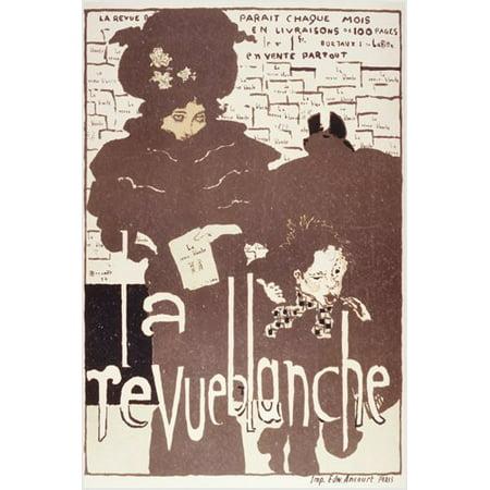 Vintage French Magazine Cover La Revue Blanche Poster Famous 24X36