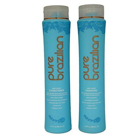 Pure Brazilian Anti-Frizz Shampoo & Conditioner 13.5oz Duo Set ()
