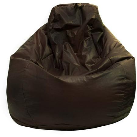 Large Tear Drop Leather Look Vinyl Bean Bag Walmart Com