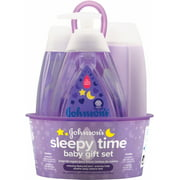 JOHNSON'S Sleepy Time Baby Gift set with Relaxing Naturalcalm Aromas, Bedtime Essentials 4 ItemS (Pack of 2)