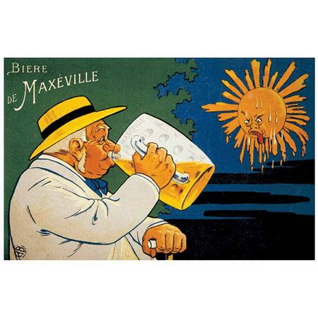 Maxeville Beer Vintage Advertising Art Print