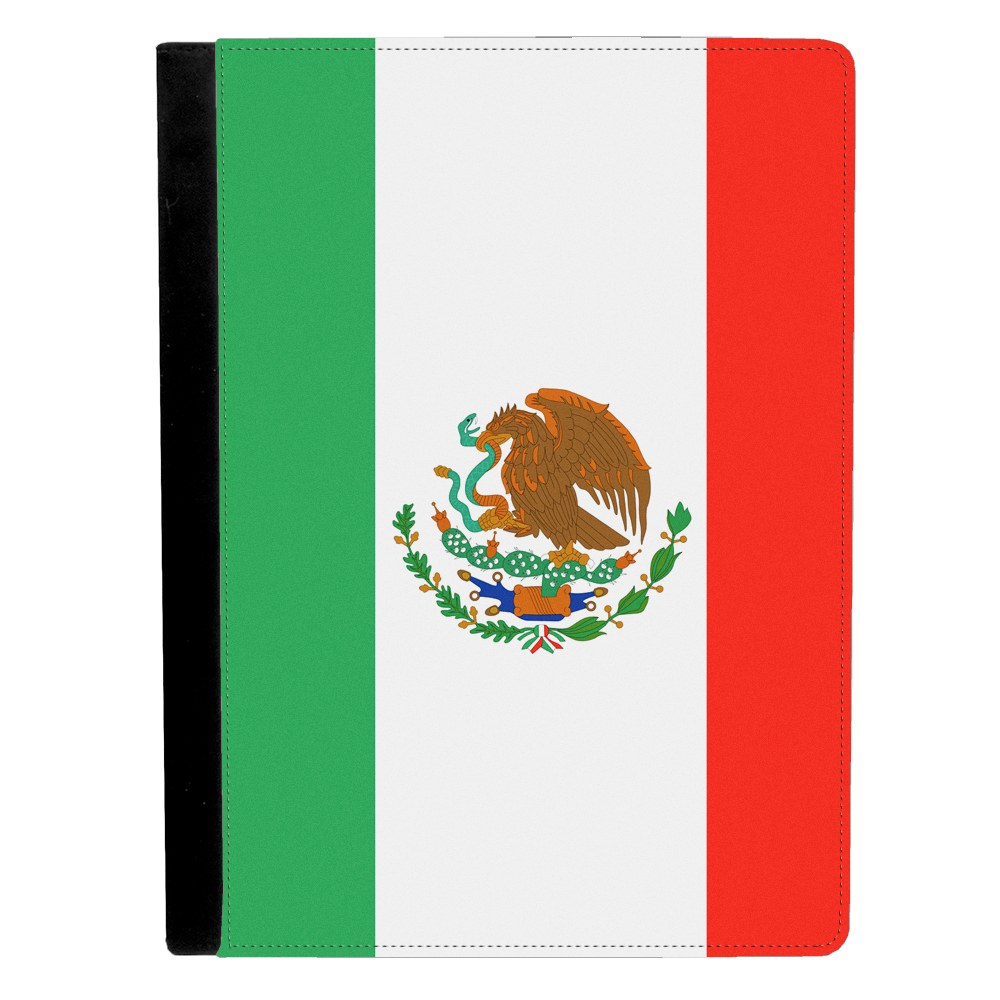 Mexico Mexican Flag Apple iPad Pro 12.9 Inch Leather Flip Tablet Case by Mad Marble