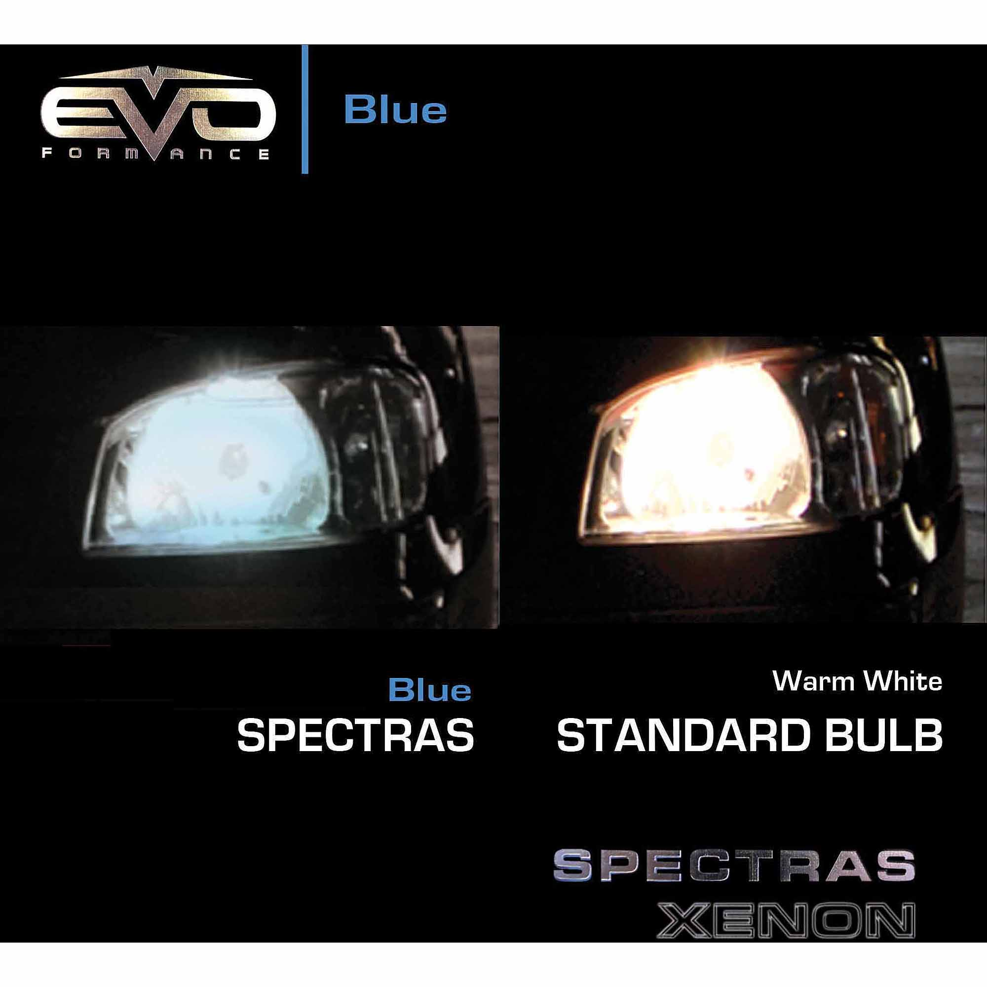Spectras Xenon 9004 Blue Halogen Headlight Bulbs