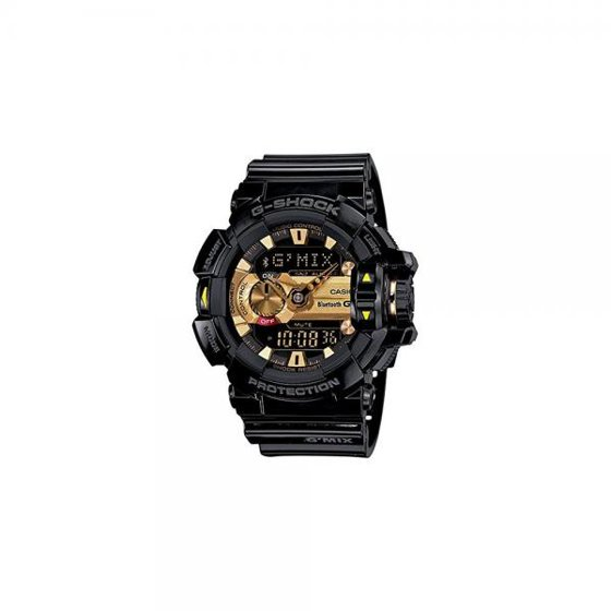 G Shock Mens Bluetooth Smart Analog Digital Sports Watch Black Gold