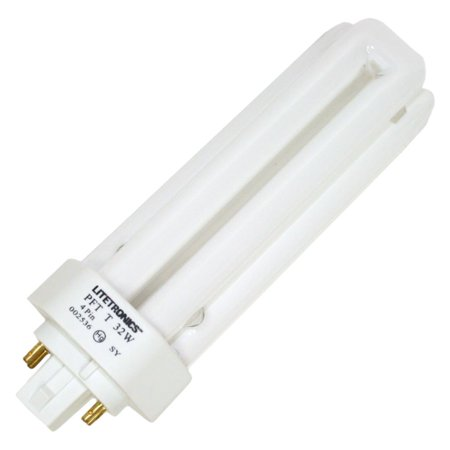 Litetronics 59670 - L-12322 32W T4 T GX24Q-3 3500K 4-PIN Triple Tube 4 Pin Base Compact Fluorescent Light Bulb