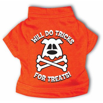PET T-SHIRT-TRICKS FOR TREATS - Watch Family Matters Dog Day Halloween