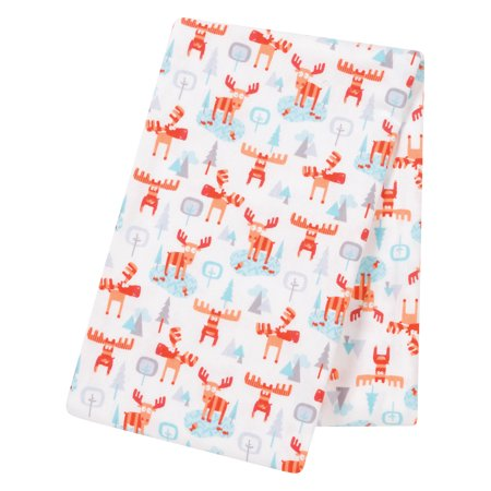 - Winter Moose Jumbo Deluxe Flannel Swaddle Blanket