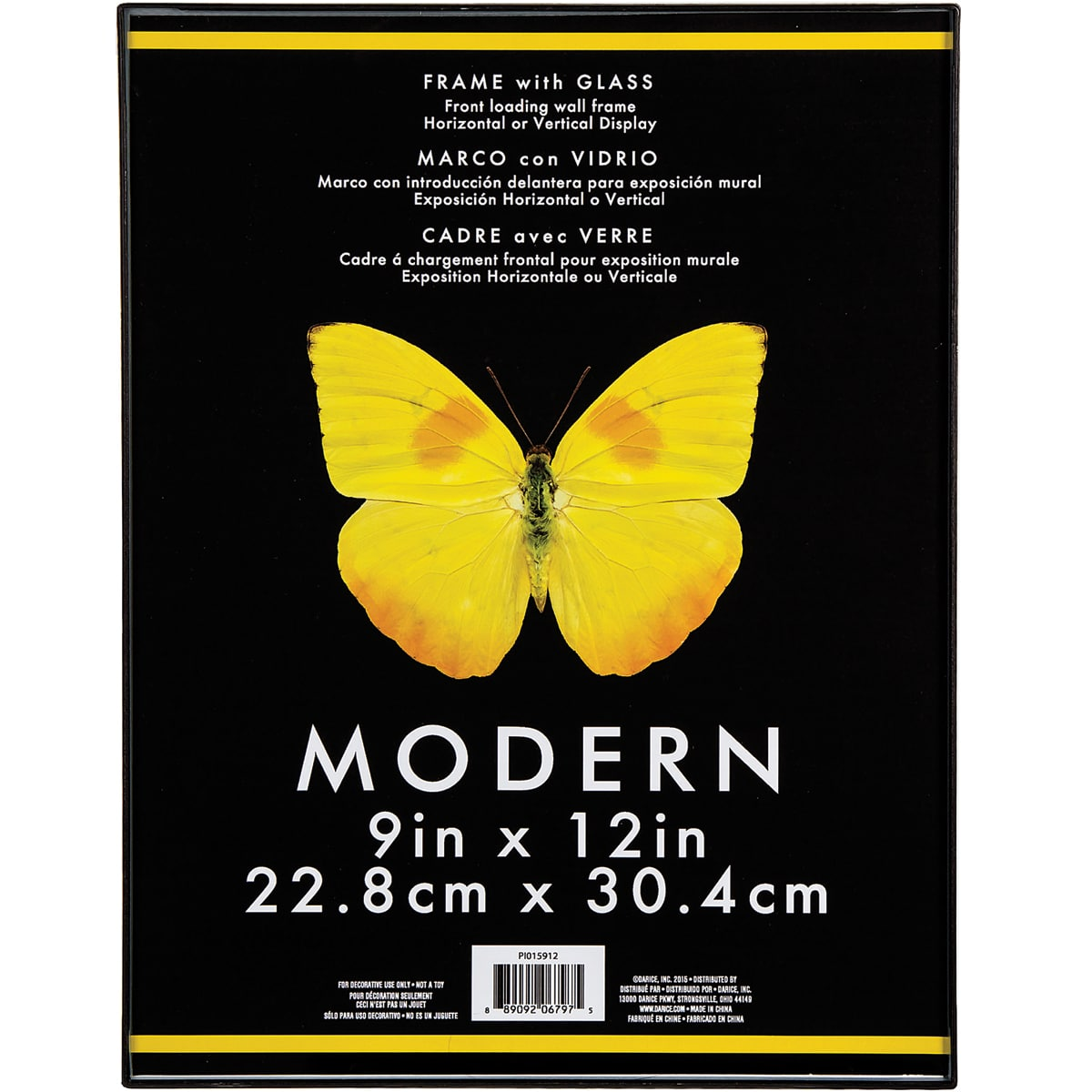 Frame - Modern - Plastic and Glass - Black - 9 x 12 inches - Walmart.com