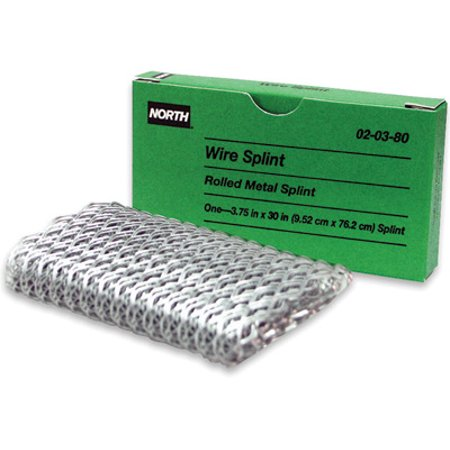 North 20380 36'' X 3 3/4'' Gray Metal Wire Splint (For Use With Loggers First Kit) (Use Of Safety Pin In First Aid Box)