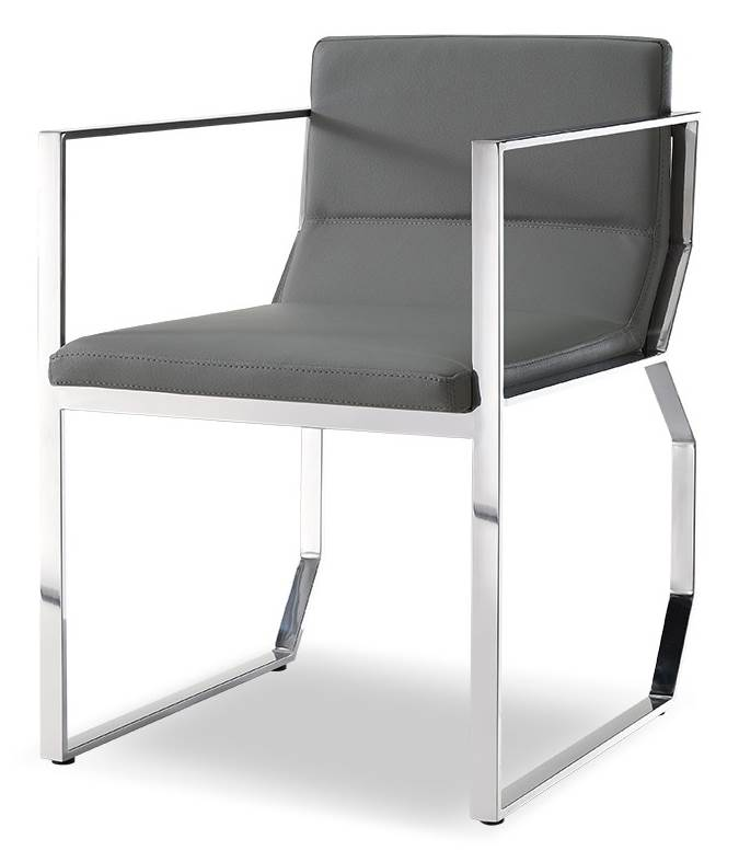 Blake Dining Armchair in Gray by White Line Imports