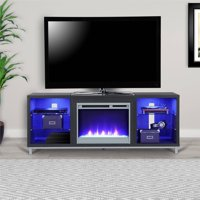 Product Image Ameriwood Home Lumina Fireplace Tv Stand For Tvs Up To 70 Wide Black Oak