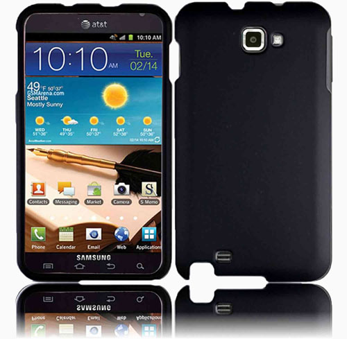 Unlimited Cellular Protection Rubberized  Shield for Galaxy Note - Black
