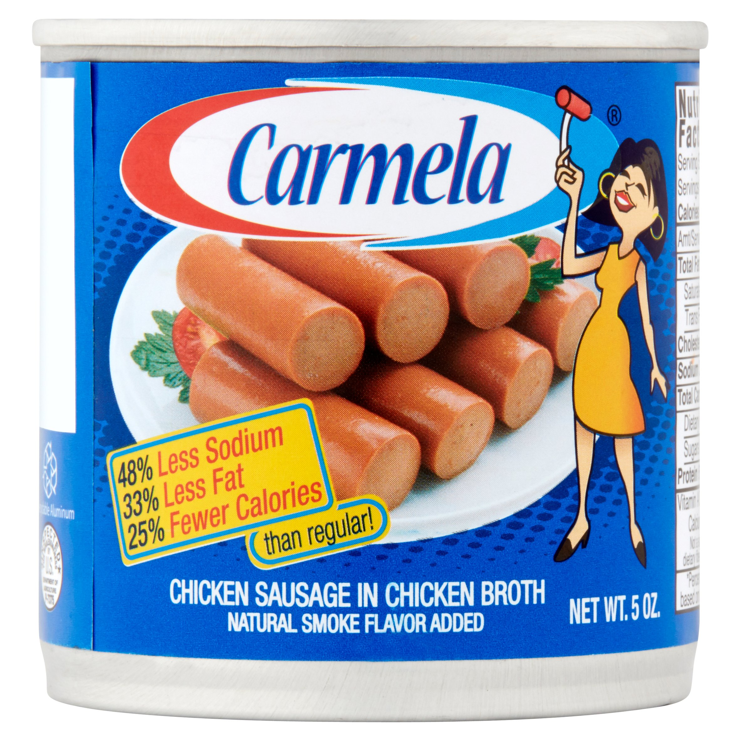 Carmela Chicken Sausage in Chicken Broth, 5 oz by Century Packing Corp.