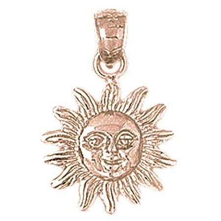 Rose gold plated 925 sterling silver sun pendant 22 mm approx rose gold plated 925 sterling silver sun pendant 22 mm approx 2125 mozeypictures Choice Image