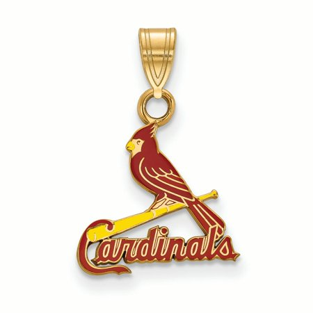 Louis Cardinals Stl Pendant (St. Louis Cardinals Women's Gold-Plated Enamel Pendant - No Size )