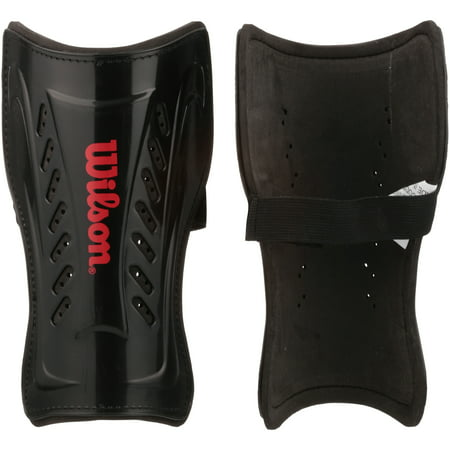 Wilson Black and Red Shin Guard (Adult, Youth, and Pee Wee Sizes) Ccm Kids Shin Guard