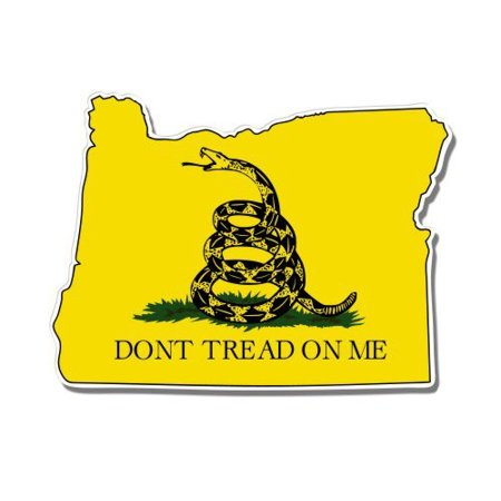 Oregon Gadsden Flag Don't Tread on Me - Vinyl Sticker Waterproof Decal Sticker