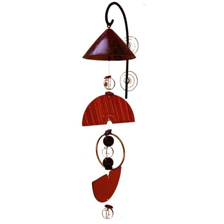 SSG EFMRD-PR Eco Funky Mobile Chimes, Red & Purple Eco Wind Chimes