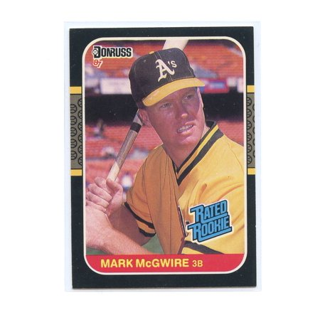 1987 Donruss 46 Mark Mcgwire Oakland Athletics Rated Rookie Card