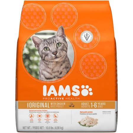 Iams ProActive Health Adult Original Chicken Dry Cat Food, 10.8 Lb