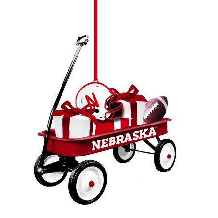 Nebraska Huskers Team Wagon Ornament, Adorn your Christmas tree with team pride this holiday season By Team Sports America from USA ()