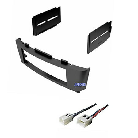 Car Stereo Dash Kit and Wire Harness for Installing a new Radio for 2000 2001 2002 2003 2004 2005 2006 Nissan