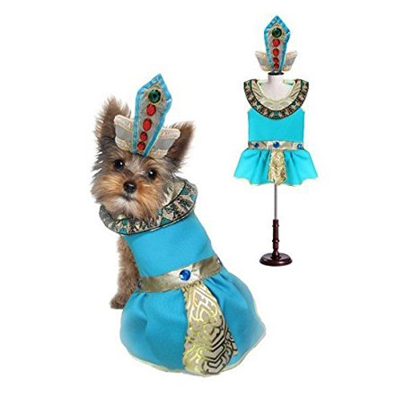CLEOPATRA DOG COSTUMES - Dress Your Dogs as Jeweled Egyptian Princess Outfit(Size 0)](Cleopatra Dress Diy)