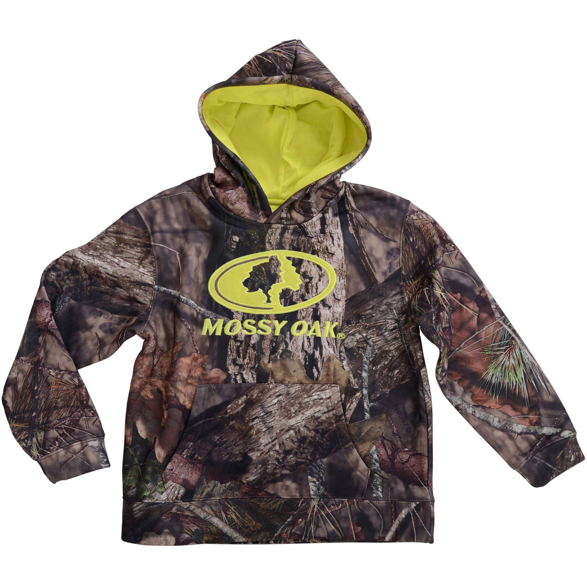 Realtree and Mossy Oak Boys Camo Performance Pullover Fleece Hoodie